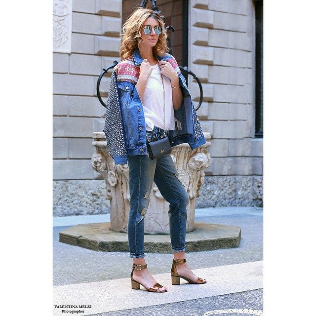 Metallic!!! Discover my outfit wearing @carmens_padova on affashionate.com #elenabarolo #ootd…