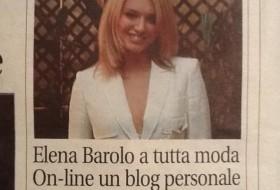 """""""Elena Barolo a tutta moda"""" -Cronaca qui Torino"""