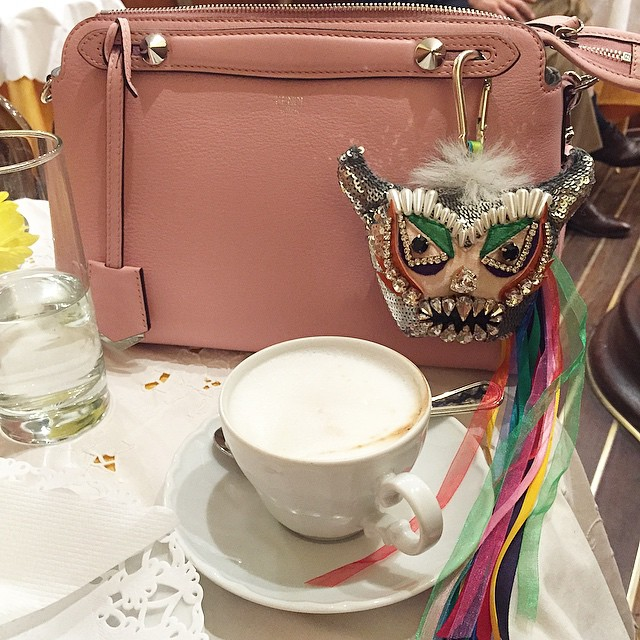 Monster cappuccino!!! ☕️ #monster #fendibag #shourouk #charm #cappuccino #thatsoaffashionate bag…