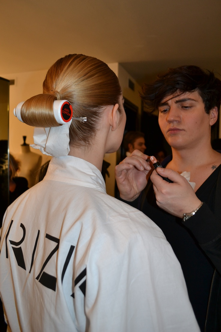 hair and make up in the backstage