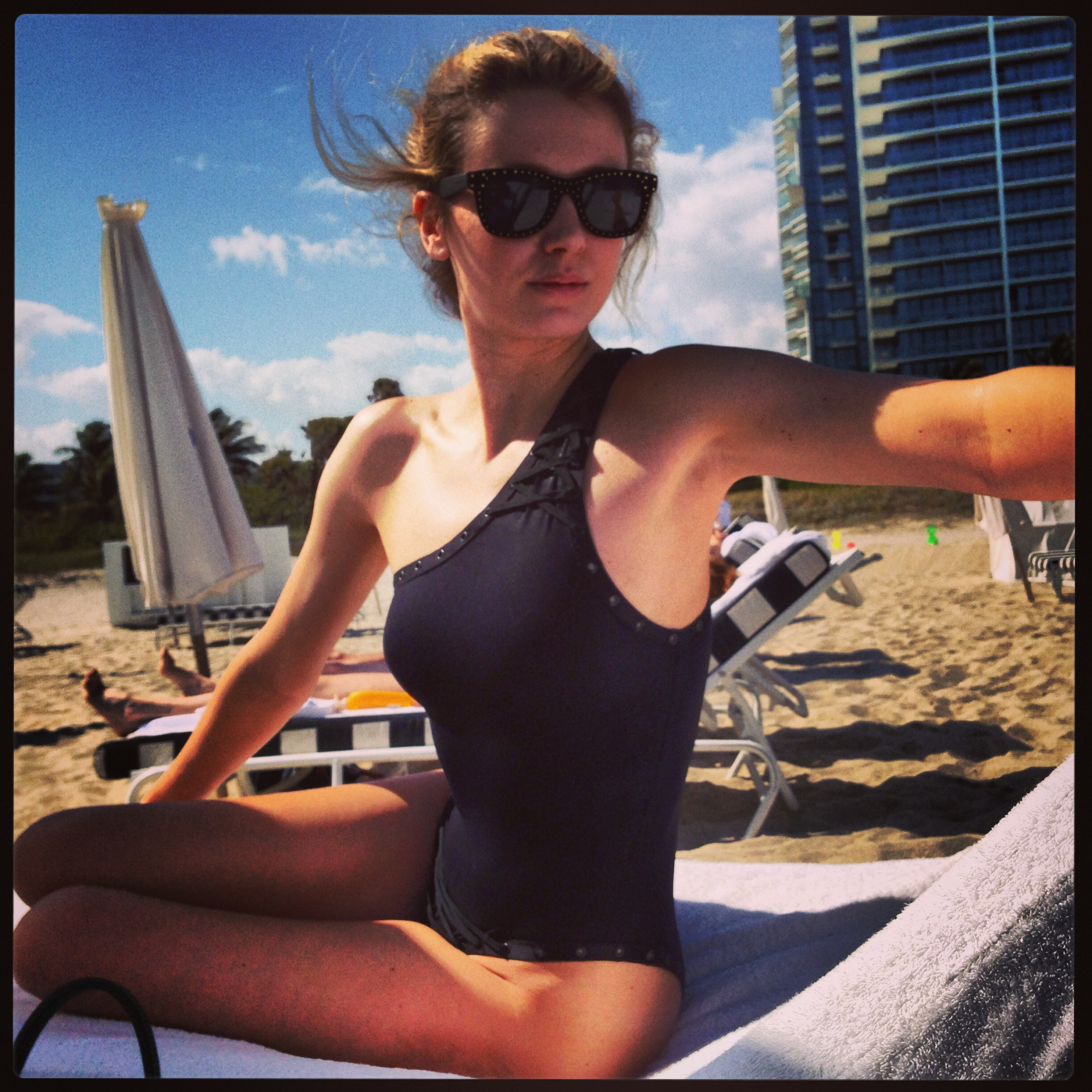 me in miami in dior vintage swimsuit