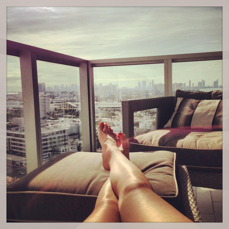 sunbathing me in miami
