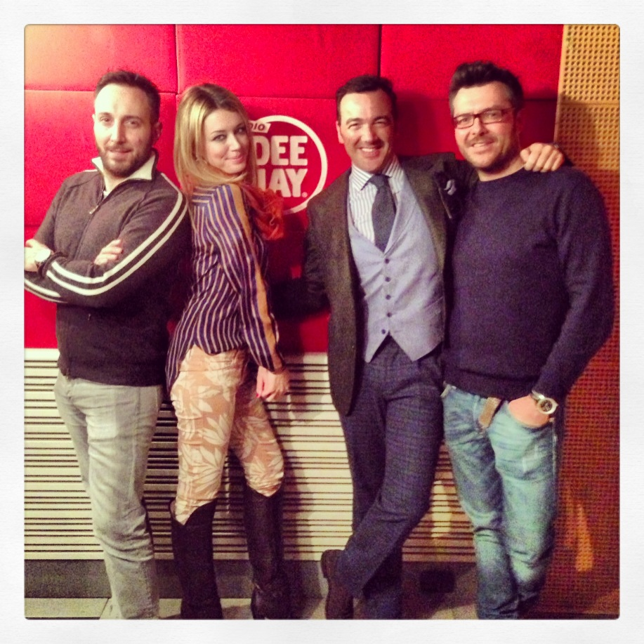 me @radiodeejay with my boyfriend alessandro martorana