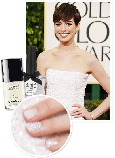 caviar pearls on anne's nails