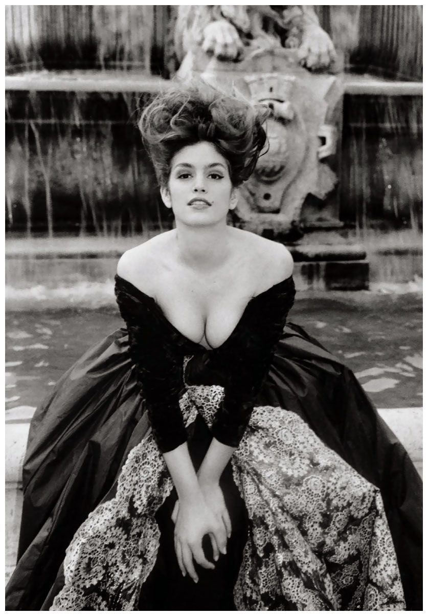cindy-crawford-in-a-couture-symphony-of-velvet-lace-and-taffeta-photo-arthur-elgort-1990