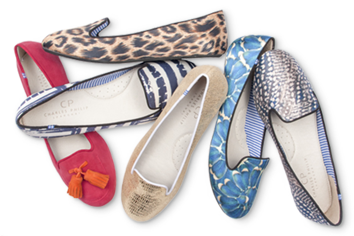 charles philip flat shoes