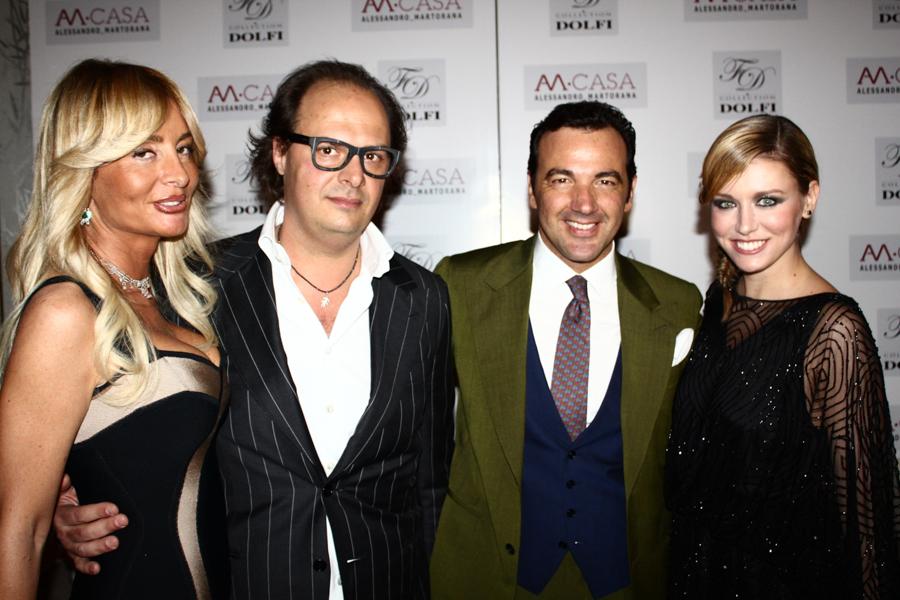 Alessandro Martorana ed Elena Barolo e Filippo Dolfi con la moglie