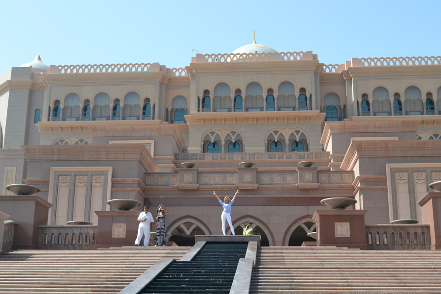 me at our hotel, emirates palace