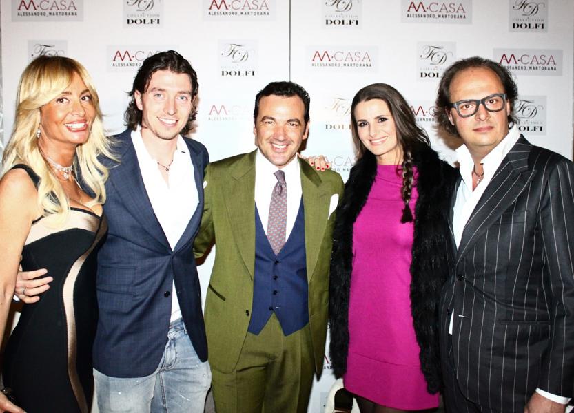 Dolfi e Martorana con Riccardo Montolivo e la moglie