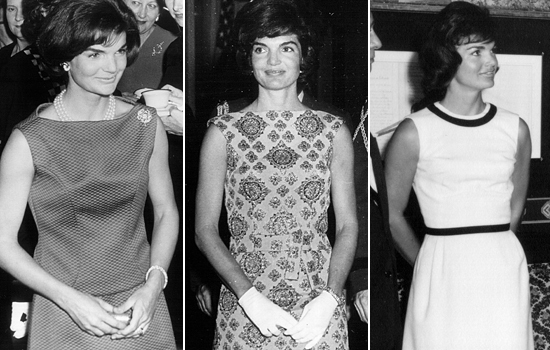 Jackie Kennedy fashion trio