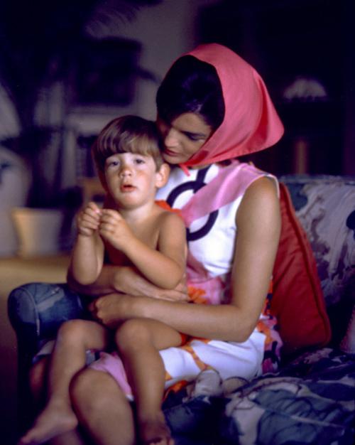 Jacqueline Kennedy, John Kennedy Jr. At Palm Beach, 1963. © 2000 Mark Shaw