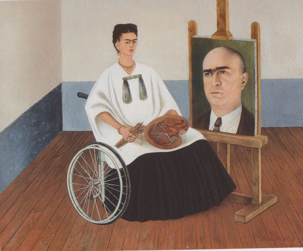 Self-portrait_with_Portrait_of_Dr_Farill1951_Private_Coll