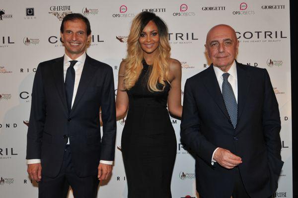 Massimiliano Allegri, Menaye Muntari e Adriano Galliani