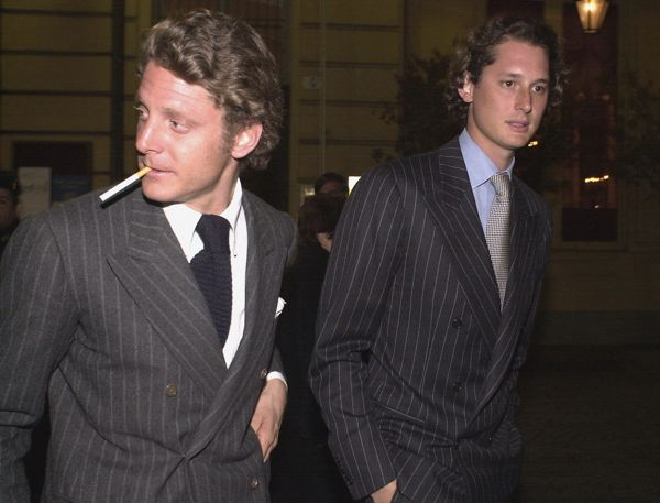 Lapo-John-Elkann-in-Chalk-Stripe-Double-Breasted-Suits