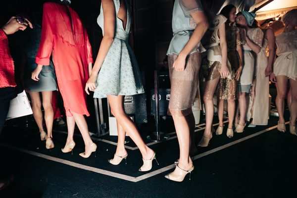 Alice McCall backstage MBFWA