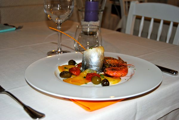 Filetto Spigola e gambero rosso