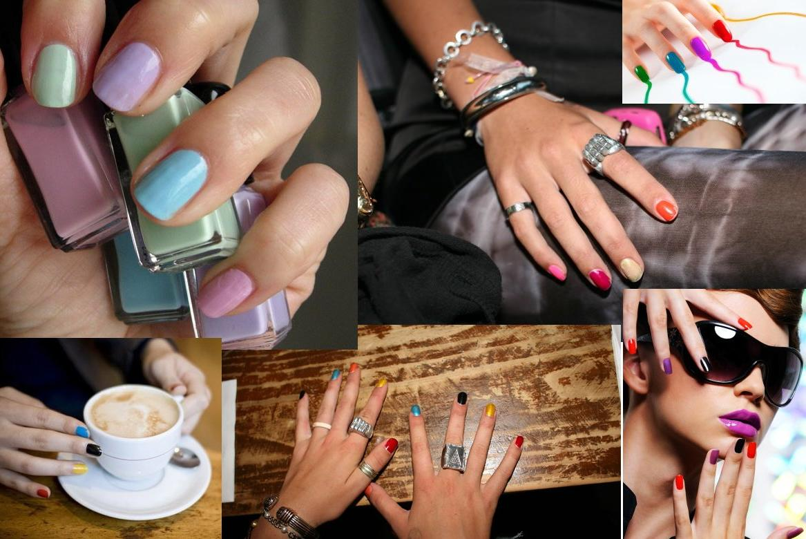 Multi-Colored-Manicure-Nail-Polish-Work