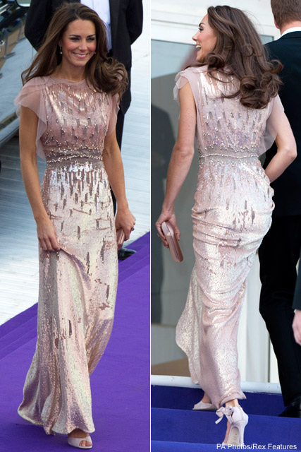 Kate-Middleton-wearing-Jenny-Packham-dress-and-L.K-Bennett-shoes
