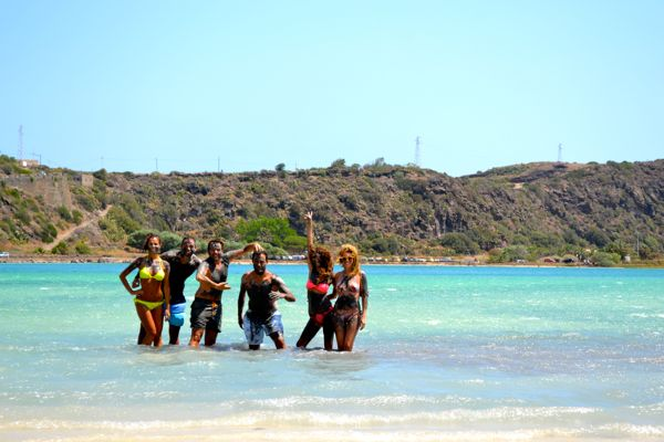 me and my friends at lago di venere
