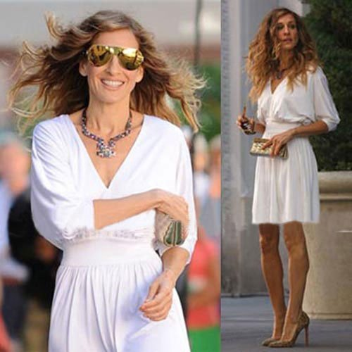 Free-Shipping-New-Sex-and-the-City-Ivory-Evening-font-b-Celebrity-b-font-Women-s