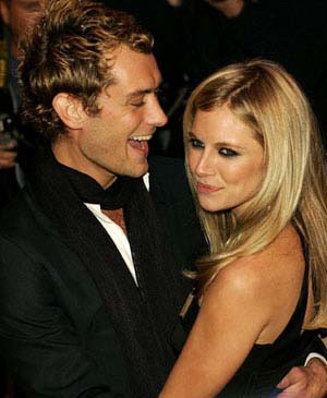 SIENNA MILLER AND JUDE LAW
