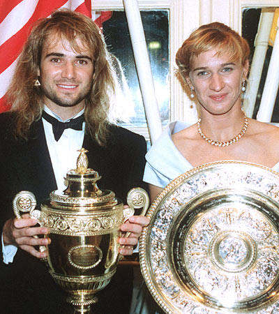 ANDRE'AGASSI AND STEFFI GRAFF