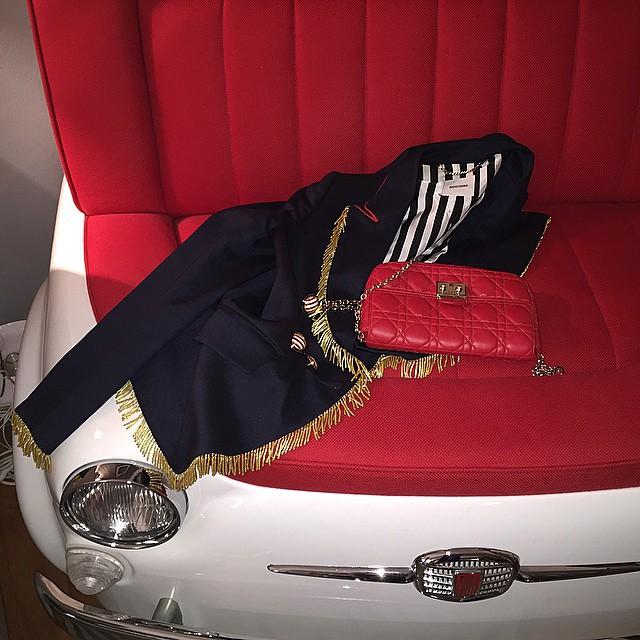 lovers. #moschinojacket #diorbag #500fiat #details #salonedelmobile #milano #designweek #thatsoaffashionate