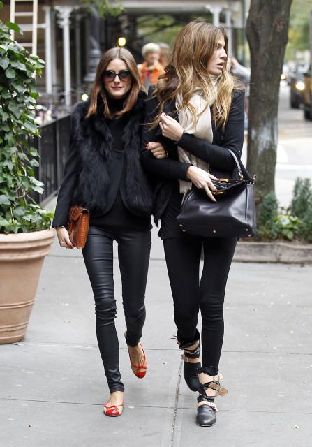 Olivia Palermo and Bianca Brandolini D'Adda Style Spot