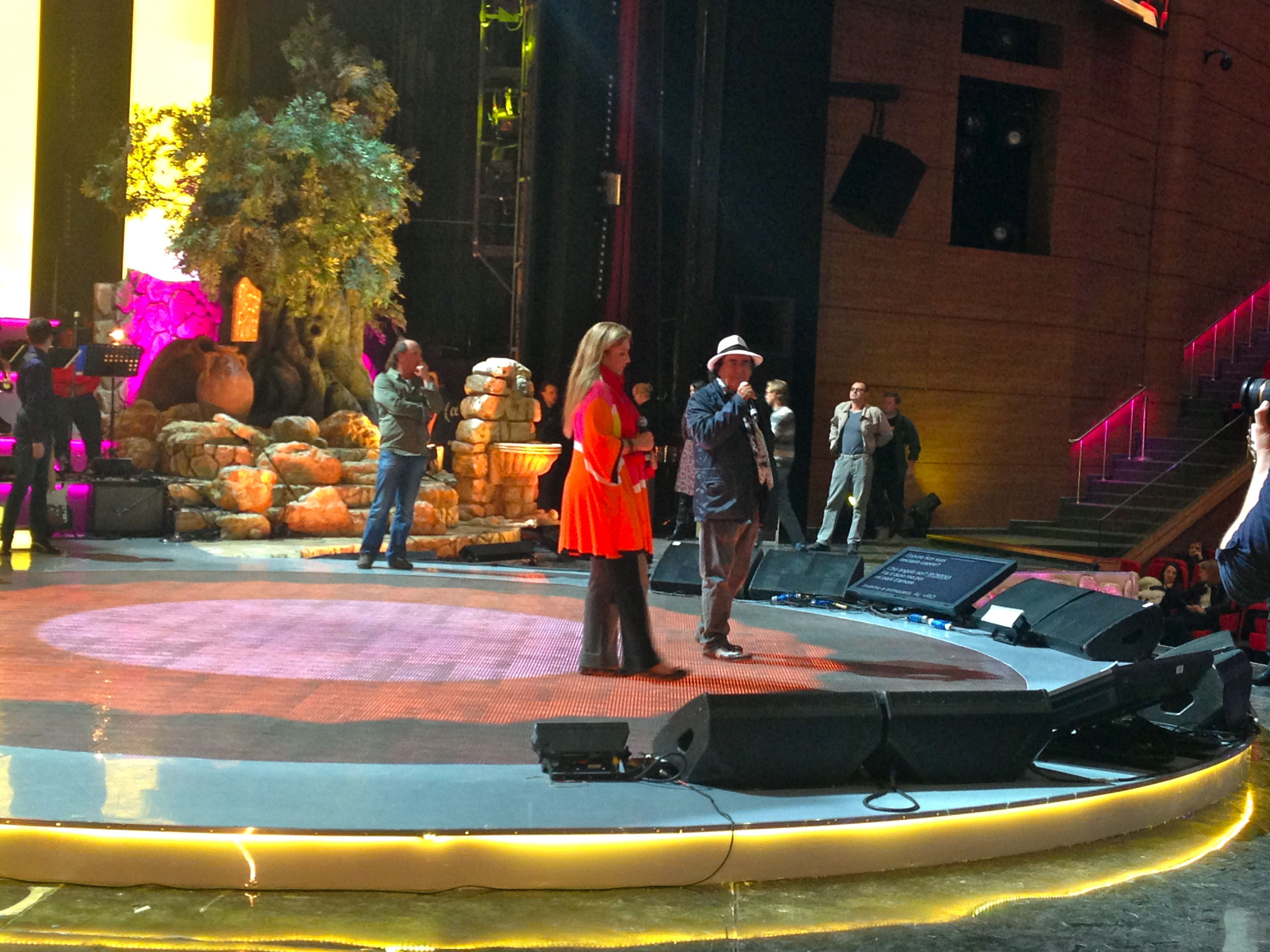 al bano and romina on stage