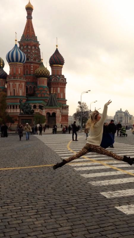 """dancing in the red square, wearing """"crisberry""""leggings"""