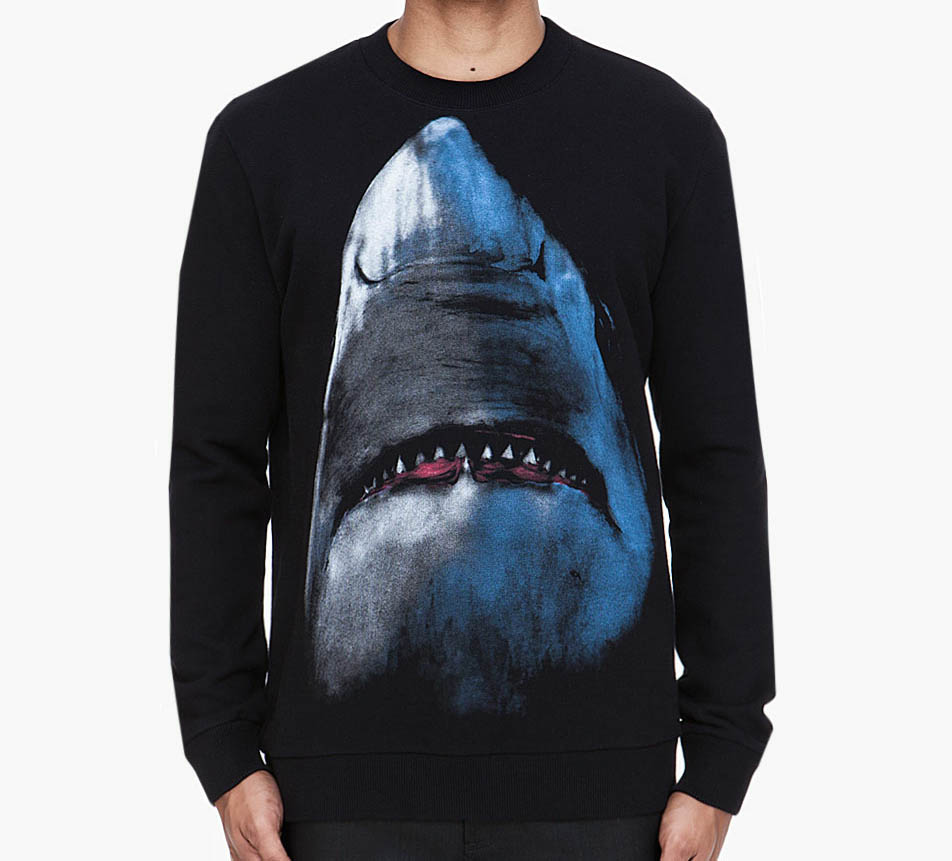GIVENCHY_Black_Shark_Print_Sweater