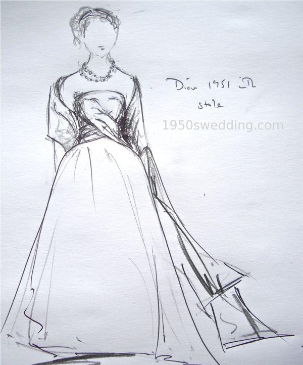 Dior-1951-wedding-gown-stole