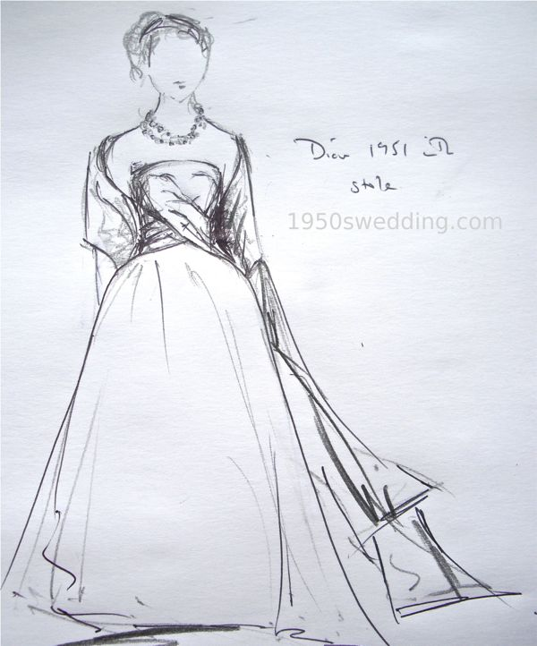 Dior-1951-wedding-gown-stole