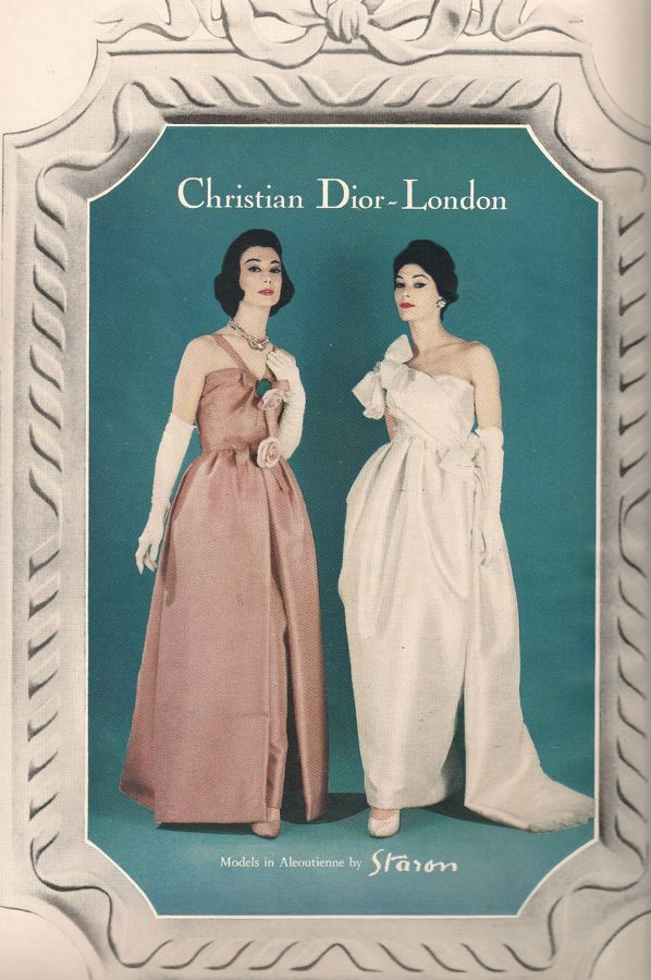 Christian Dior - London dress advert from Vogue February 1960