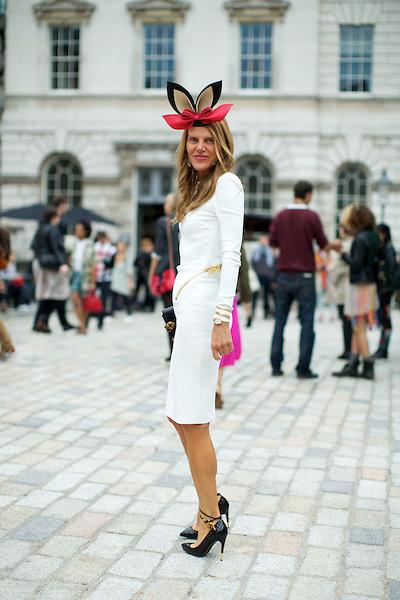 London Fashion Week Streetstyle S/S 2013, Somerset House, London