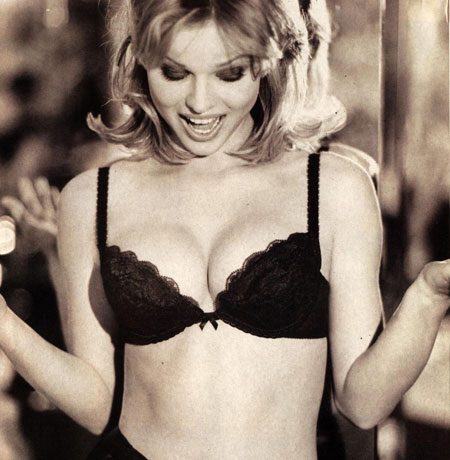 eva herzigova wearing wonderbra