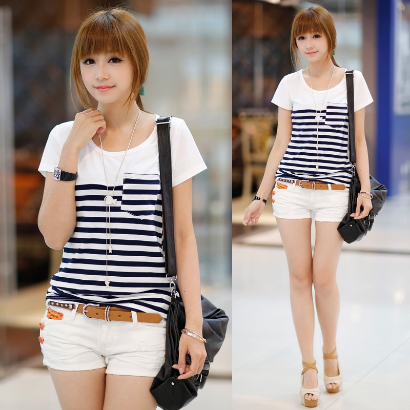 female-Han-short-outfit-cultivate-Stripe-edition3898