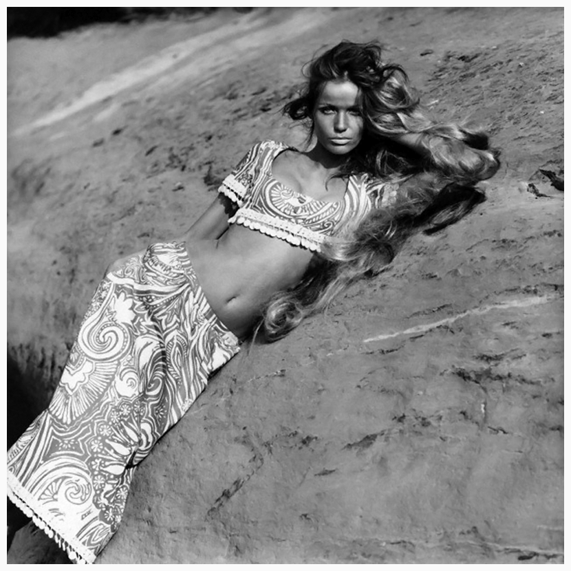 model-veruschka-reclines-on-an-arizona-rock-ledge-wearing-a-miss-brannel-abstract-print-outfit-circa-june-1968-photo-franco-rubartelli