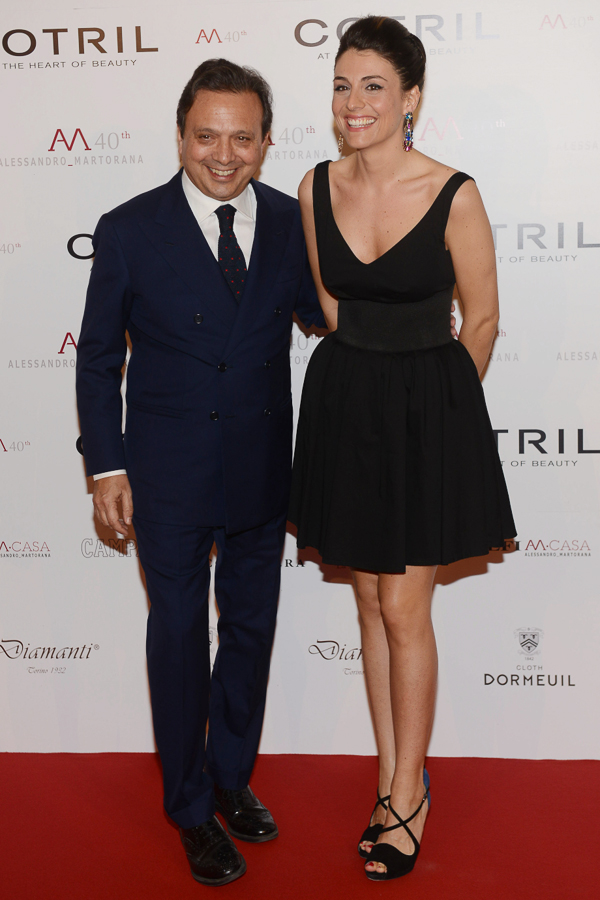 piero chiambretti and his wife federica