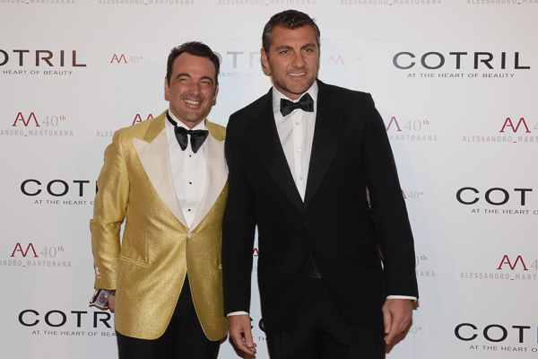 with bobo vieri wearing martorana