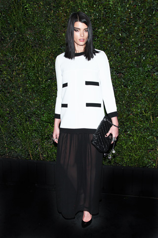 crystal renn in chanel