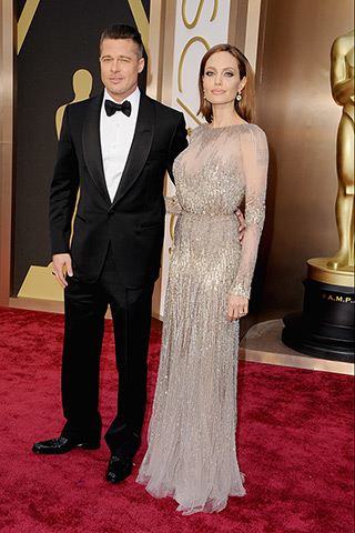 brad pitt and angelina jolie (elie saab)