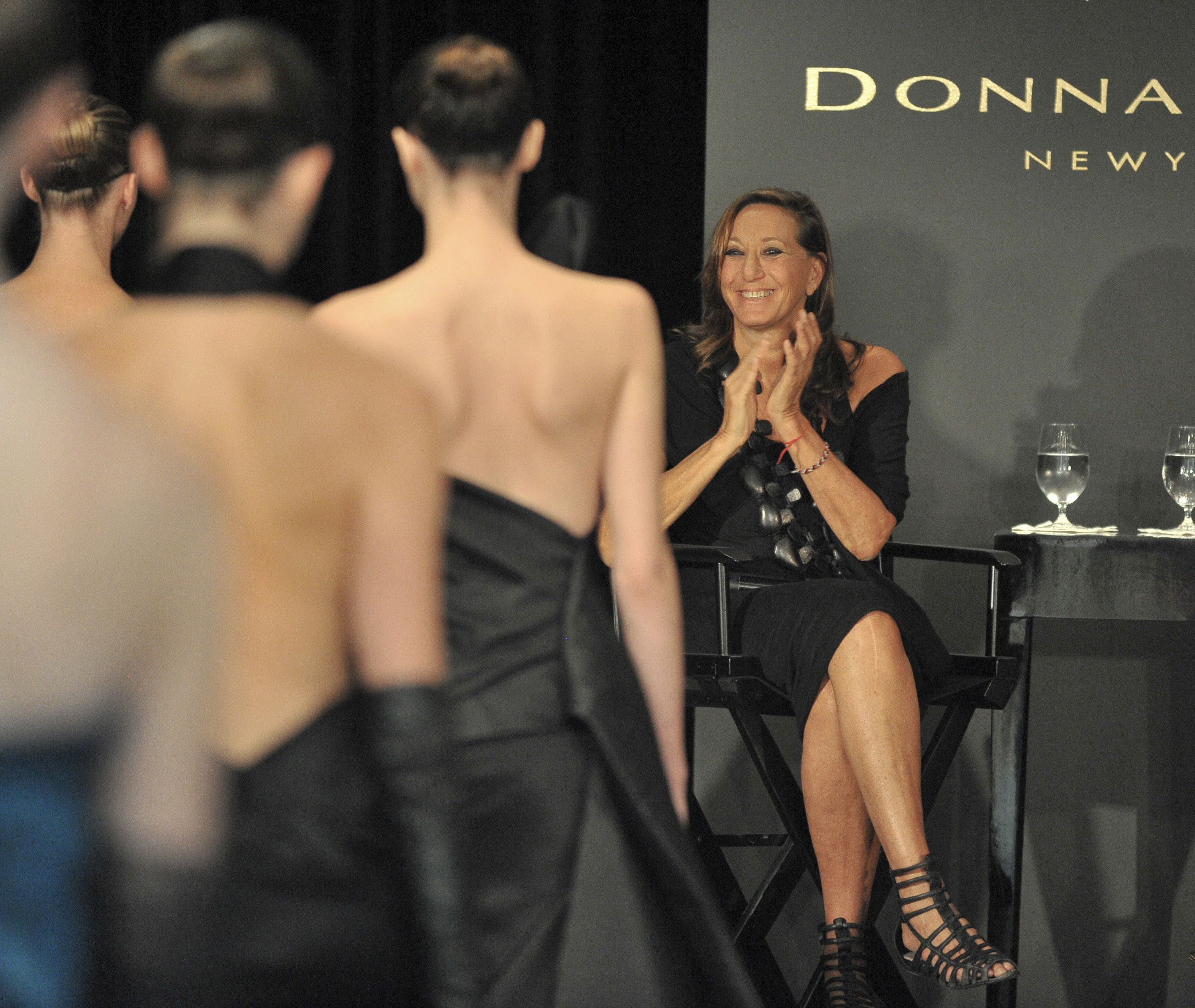 Donna Karan, models final walk