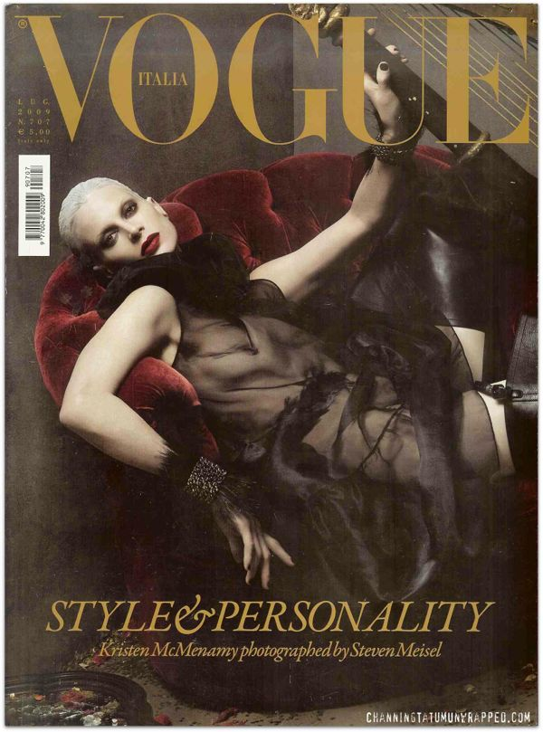 Channing Tatum Featured in July 2009 Vogue Italia Cover low