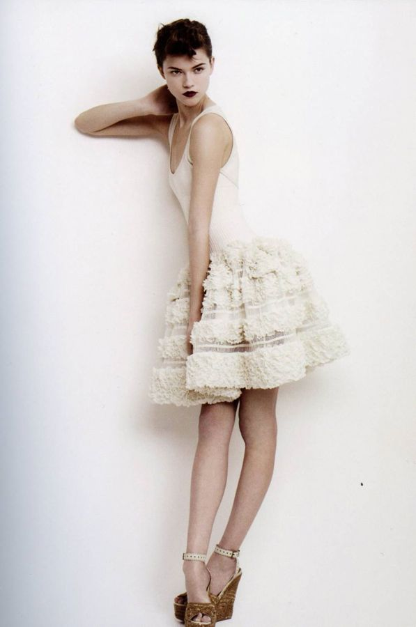 Azzedine Alaia spring 2009 lookbook photo Willy Vanderperre stylist Joe McKenna model Kasia Struss Women Management New York Blog