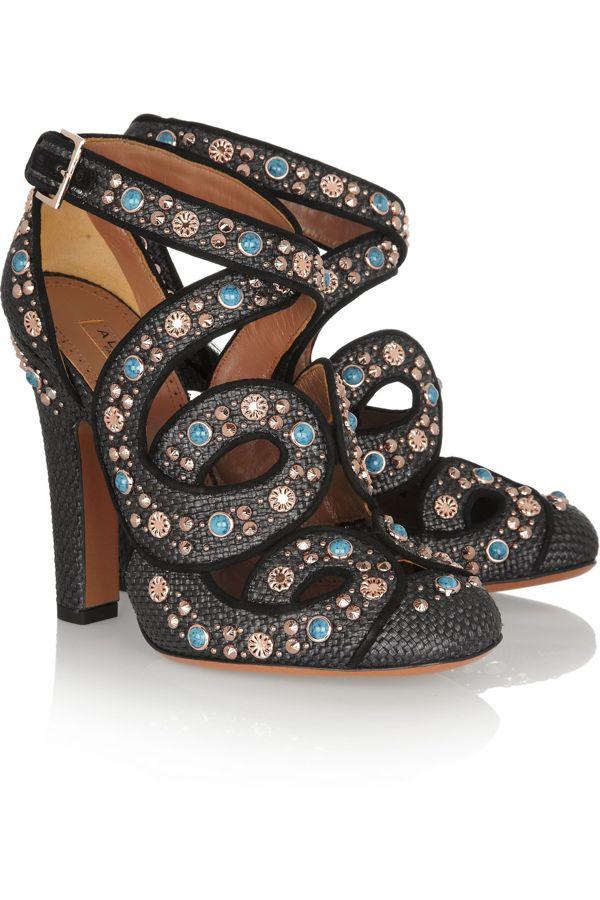 alaia-cutout-embellished-raffia-pumps
