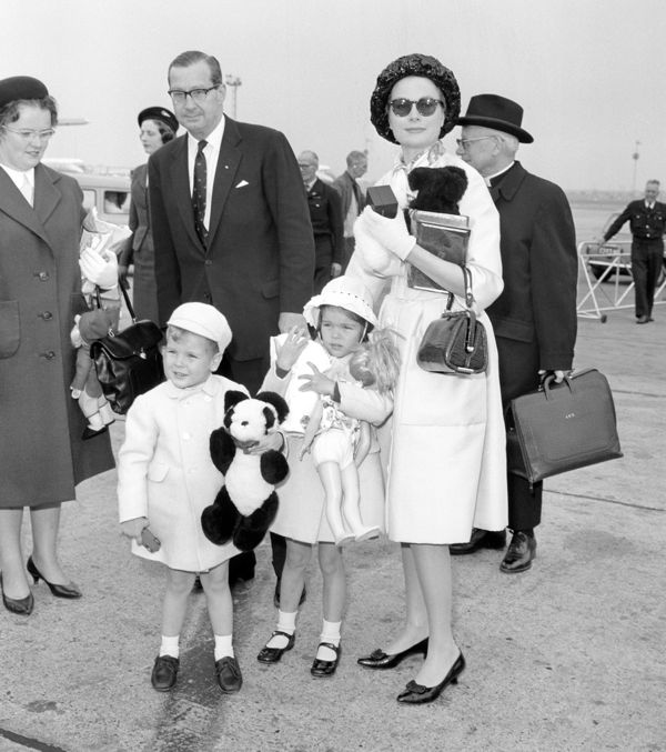 Royalty - Princess Grace and Children - Heathrow Airport, London