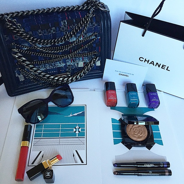 In ❤️ With The new s/s 2015 collection! Merci @chanelofficial…