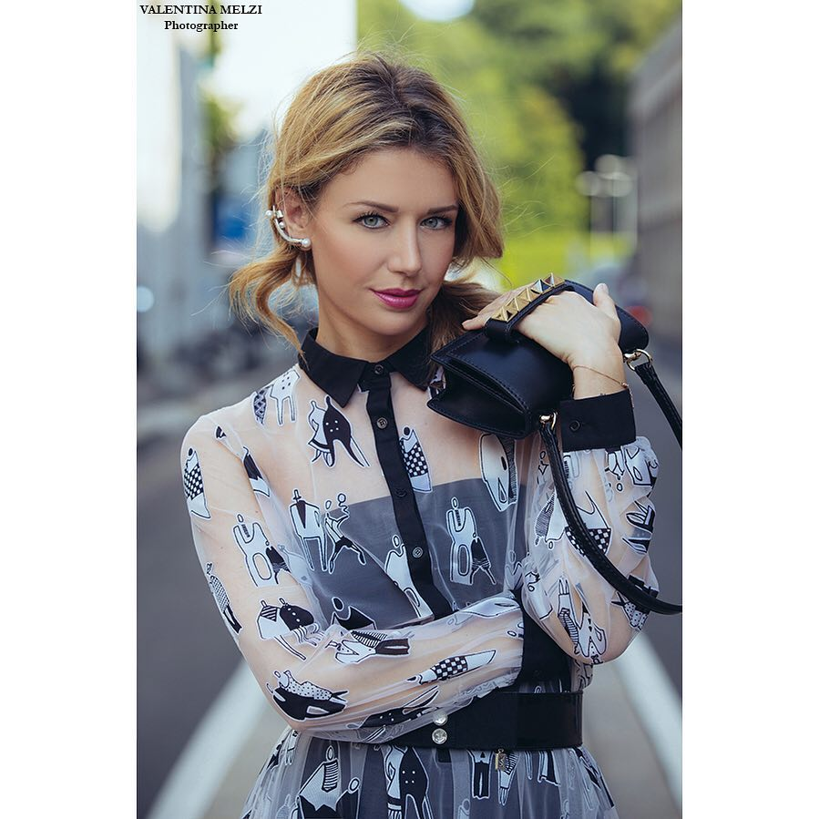 To see more pics go to affashionatecom elenabarolo wears sharrapaganohellip