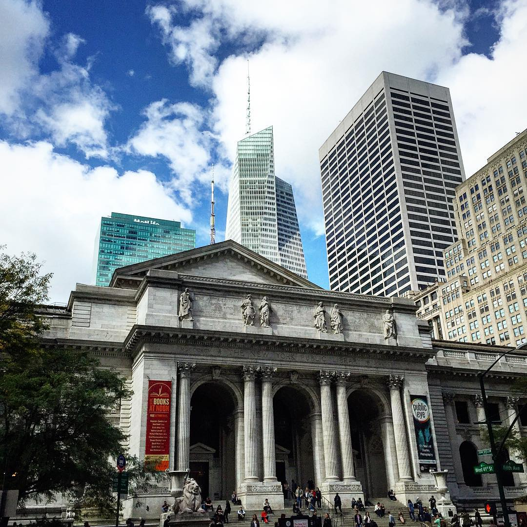Corner of THE city New York public library newyork publiclibraryhellip